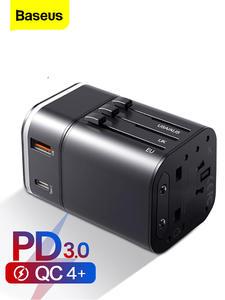 Baseus Socket Usb-Charger Travel-Adapter International-Plug Universal Qc4.0-Qc3.0 PD