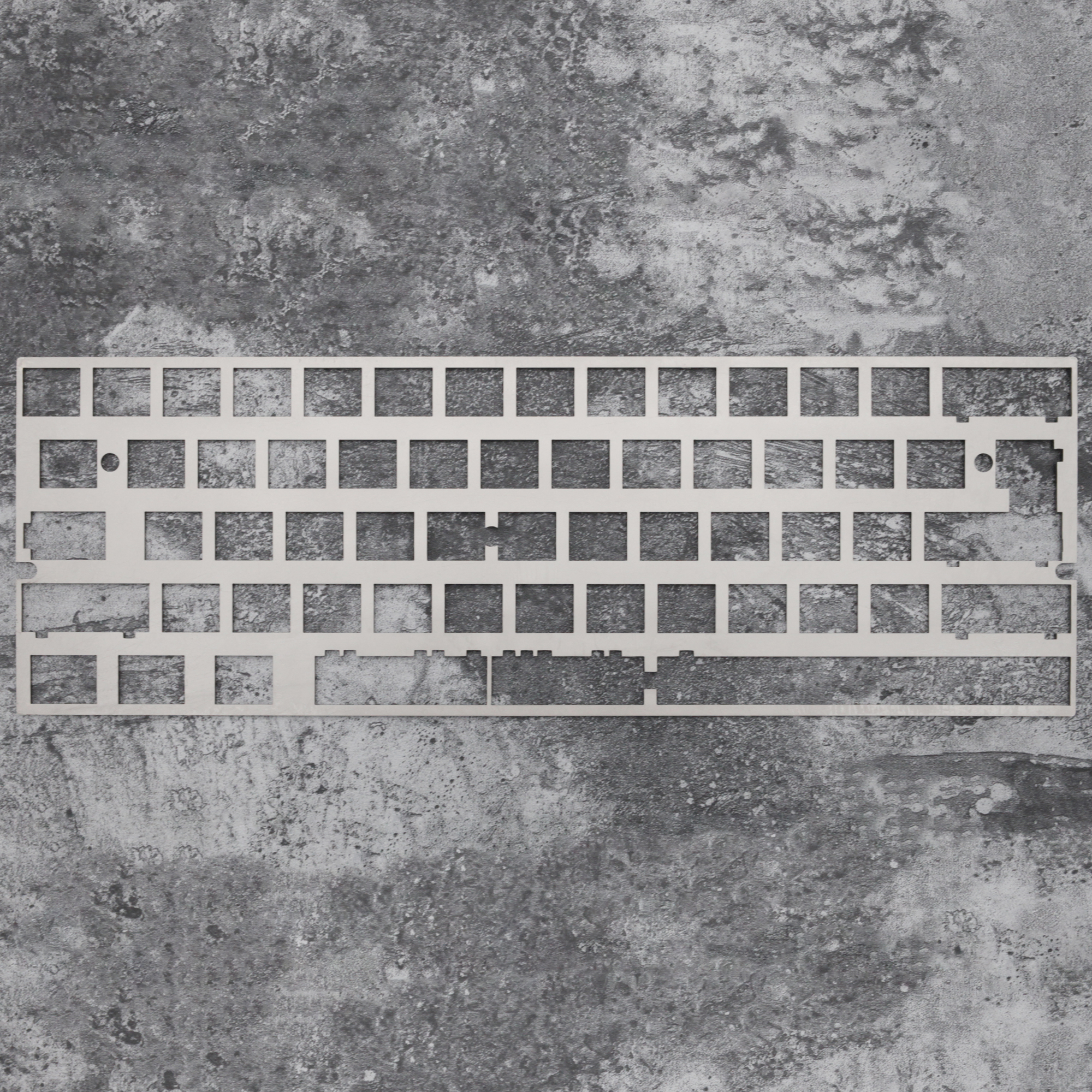 Alps Matias 60% Stainless Steel Plate Mechanical Keyboard Plate Support Xd60 Xd64 2.25u 2u Left Shift Support Kinds Of Layout