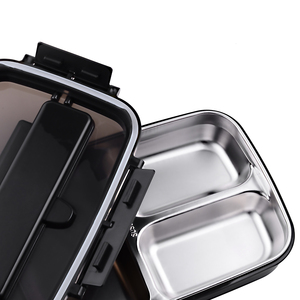 Image 4 - Portable 304 Stainless Steel Bento Box with 3 Compartments Lunch Box Leakproof Microwave Heating Food Container Tableware Adults