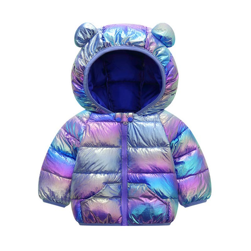 Children Solid Color Coat Boys Trendy Cotton Clothes Girls Fashion Hooded Outerwear Kids Casual Warm Jacket Kids Winter Clothes 5