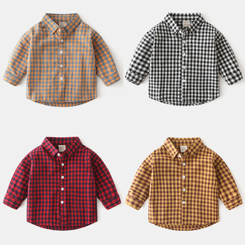 Kids Baby Boys Clothes Casual Cotton Children Clothing For Kids Boys Shirts Fashion New Spring Plaid Long Sleeve Shirts For Boys 1 2 3 4 year boys clothes 2018 new cotton casual kids outfits star shirts stripe pants 2pcs baby children clothing set