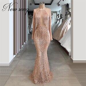 Image 3 - Женское вечернее платье с кисточками, розовое платье знаменитости с бисером, турецкие кафтаны для выпускного вечера, 2020