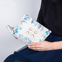 노트북 꽃 2020 2019 a5 회의 annul 일일 패드 플래너 메모 계획 주최자 의제 학교 사무실 일정 고정