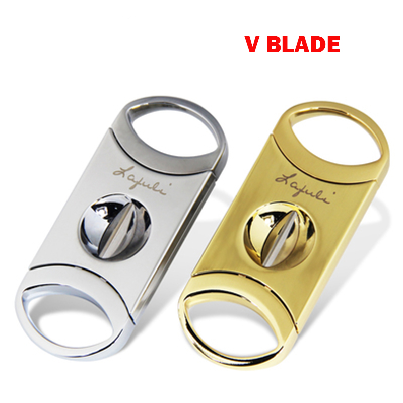 Laifuli V Blade Cigar Cutter Stainless Steel Sharp and Smooth Cigar Accessory High Quality Cigar Scissors on Sale image
