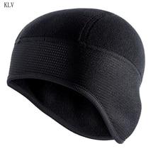 Helmet-Liner Ski-Hat Ear-Covers Snow Polar-Fleece Black Winter Beanie Skull-Cap Cycling