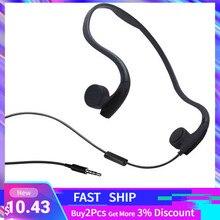 Słuchawki kostne przewodowe 3.5mm wodoodporny zestaw słuchawkowy z redukcją hałasu na świeżym powietrzu mikrofon do jazdy na rowerze bieganie