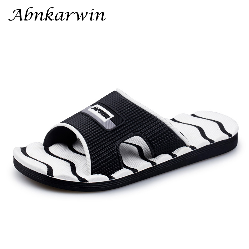 Men Summer Indoor Flat Slides Slippers Home Shoes House Slipper Beach Bedroom Men's Slates Claquette Sleepers Guest Sleeper Soft