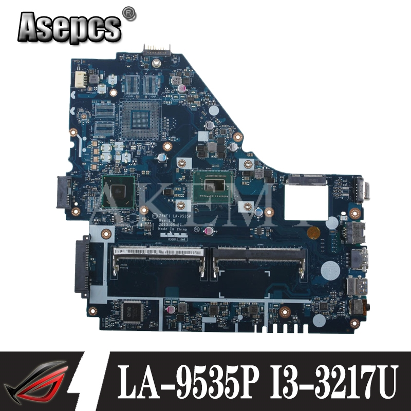 Original for <font><b>ACER</b></font> <font><b>E1</b></font>-570 laptop <font><b>motherboard</b></font> <font><b>E1</b></font>-570 I3-3217U HM77 <font><b>Z5WE1</b></font> LA-9535P tested good free shipping image