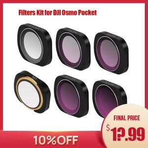 Image 1 - osmo pocket filters osmo pocket accessories dji osmo pocket filter ND CPL filters kit for dji pocket ND PL ND4 8 16 32 UV