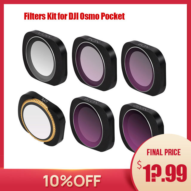 osmo pocket filters osmo pocket accessories dji osmo pocket filter ND CPL filters kit for dji pocket ND PL ND4 8 16 32 UV
