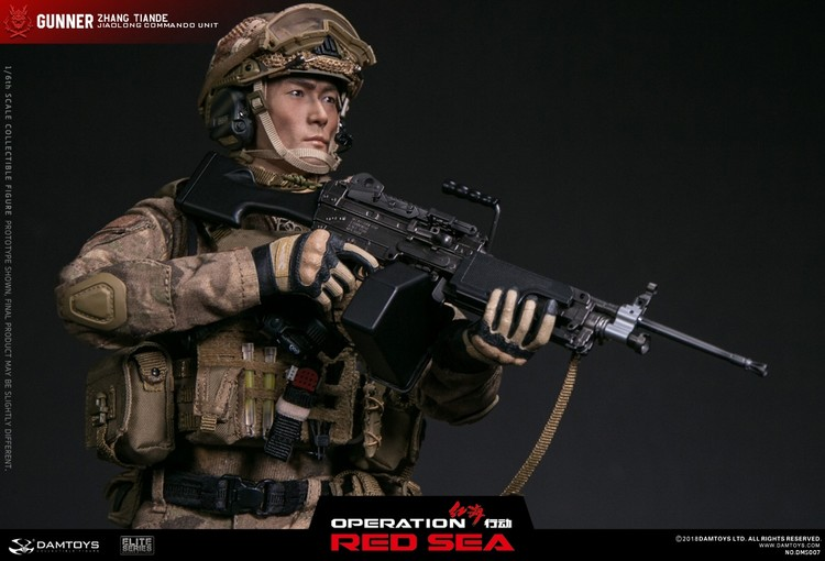 """1/6 scale figure DAMTOYS  Red Sea PLA Navy Marine Corps """"Jiaolong"""" Special Operations Brigade  SAW Gunner Zhang Tiande """"Rocky"""" 1"""