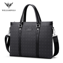 Men's Leather Business Briefcase Casual Man Shoulder Bag Messenger Bag Male Laptops Handbags Men Travel Bags