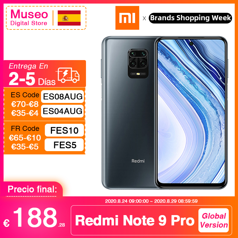 Global Version Xiaomi Redmi Note 9 Pro 6GB 64GB / 128GB Snapdragon 720G 64MP AI Quad Cam Smartphone Note 9 Pro 5020mAh 30W QC
