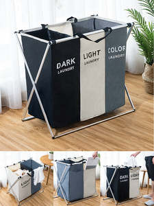 Organizer Sorter Laundry-Basket Dirty Printed Foldable Collapsible Large Home X-Shape