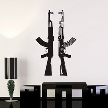 Rifle AK47 Sticker Posters Vinyl Wall Decals Pegatina Decor Mural Freedom is not Free Rifle Sticker Gun Decal