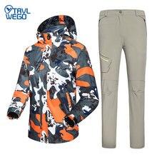 Весенне осенние мужские походные куртки trvlwego брюки костюмы