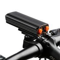 XANES DL06 1200LM 2T6 150 ° 대형 투광 조명 6000mAh 배터리 자전거 라이트 4 모드 USB 랜턴 손전등 방수 사이클링 토치