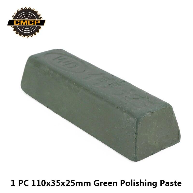 1pc 110x35x25mm composto pasta de polimento verde pasta abrasiva metais pasta de cera de polimento pasta de moedura de óxido verde de cromo