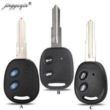 Jingyuqin-coque de remplacement pour Chevrolet | Lot de 2 boutons, transpondeur de coque de clé de voiture style pour Chevrolet LECHI SPARK Epica LOVA, coque de remplacement