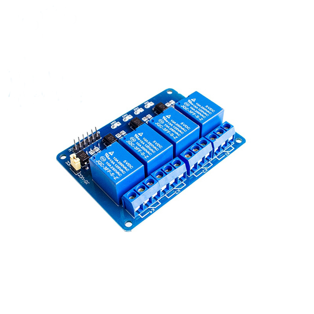 DC 5V 4 Channel Relay Module Microcontroller Development Board Relay Expansion Board Support AVR/51/PIC Channel Relays Module