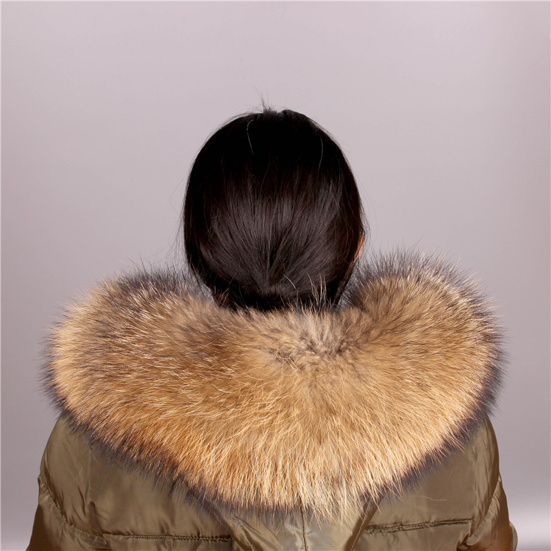 Real Raccoon Fur Collar Womens Natural Fur Gray Collar Real Fur Shawl Raccoon collar Fur Scraves|Women