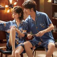 Женская пижама из 100% хлопка, трикотажная пижама с принтом, большие размеры