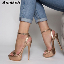 Aneikeh 2020 Summer Gladiator Sexy Sandals Shoes Woman Fetis
