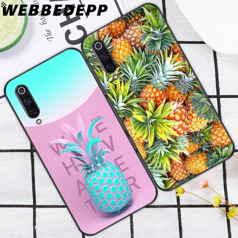 WEBBEDEPP Heerlijke Fruit Ananas Soft TPU Case voor Xiao mi mi 6 8 A2 lite 6 9 pro A1 Mi x 2s Max 3 F1 9T A3 Pro CC9E Cover