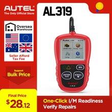 Autel AL319 OBD2 может считывать код автомобиля диагностический инструмент вид замораживания рамки данных OBDII OBD 2 сканер автомобильный PK elm327 ML319