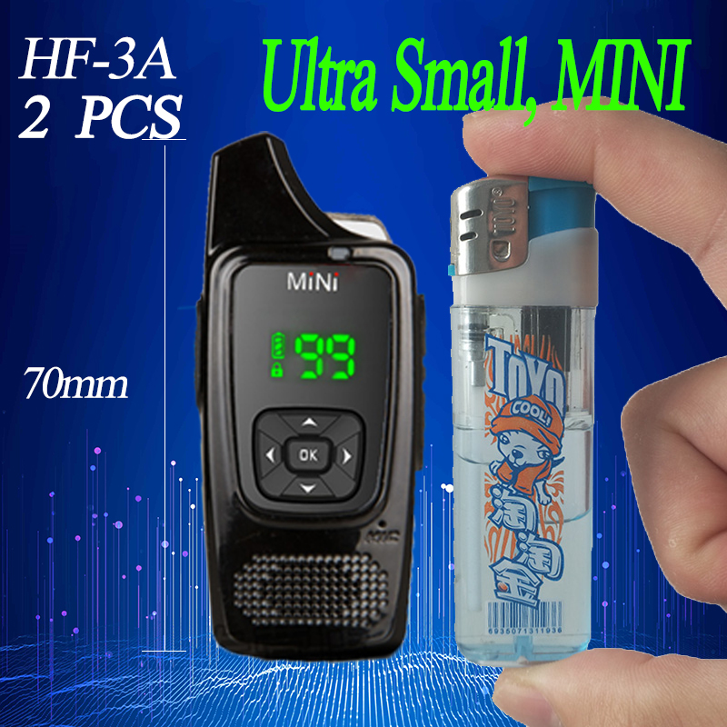 2PCS HF MINI Walkie Talkie  PMR446 Cb Radio Station Ultra-small  Ham Radio Comunicador Transceiver Free Headset Walkie-talkies