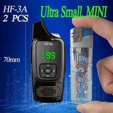 2PCS HF MINI Walkie talkie  PMR446 cb radio station Ultra-small  ham radio comunicador Transceiver Free headset walkie-talkies