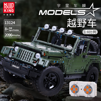 Mould King MOC Technic RC Jeeps Wrangler Adventure Off-road vehicle Model Building Blocks Bricks Compatible Toys DIY Gift