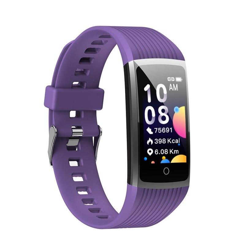 He68453f5167a43e9a3358040f7077da8J R12 Smart Band Bracelet Fitness Bracelet with Pressure Measurement Health Wristband Pedometer Heart Rate Monitor Cardio Bracelet
