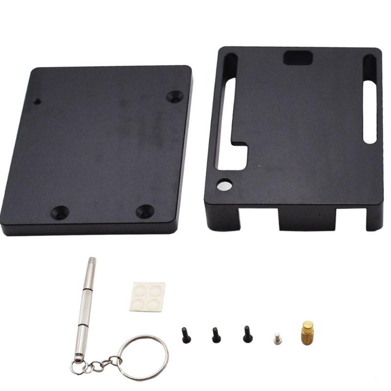 Black Aluminum Protective Case Metal Shell Box Enclosure for Arduino Uno R3 Kit|Demo Board Accessories| |  - title=