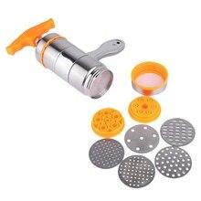 Бытовой ручной дозатор для макаронных изделий из нержавеющей стали производитель лапши пресс машина с 7 форм лапши
