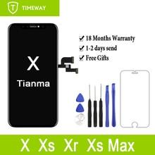 """1 pc iphone × 10 ためのアップグレード版 5.8 """"液晶新天馬品質タッチスクリーンディスプレイデジタイザアセンブリの交換"""