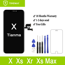 """1PC Version améliorée pour iPhone X 10 5.8 """"LCD nouveau Tianma qualité écran tactile affichage numériseur assemblée remplacement"""