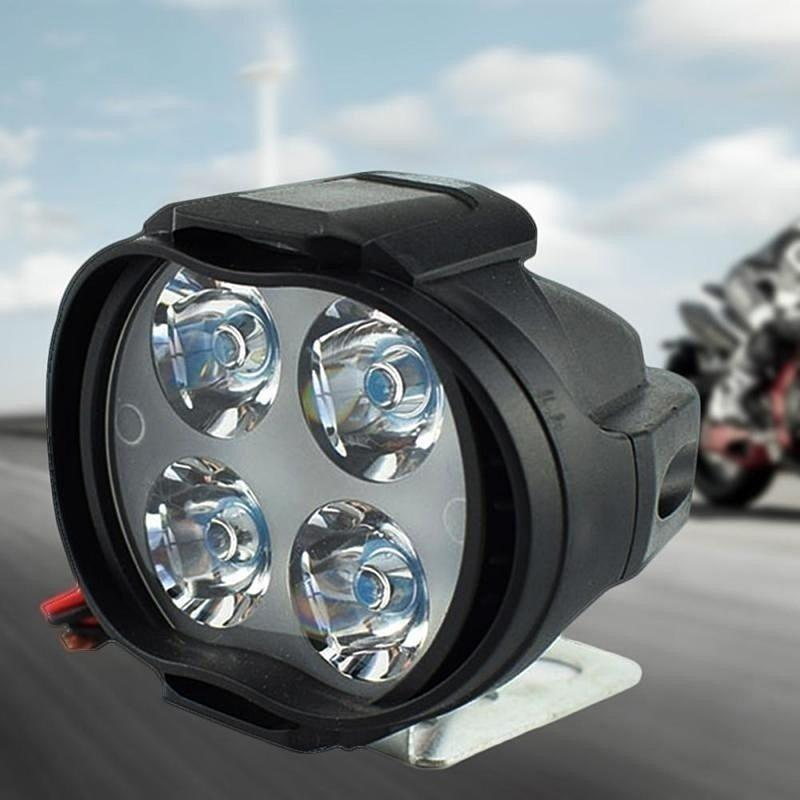 Motorcycle Headlight 2PCS 12W 4LED Headlight Motorcycle  Waterproof Driving Ice Motto Fog Spot Head Light Lamp Car Accessories