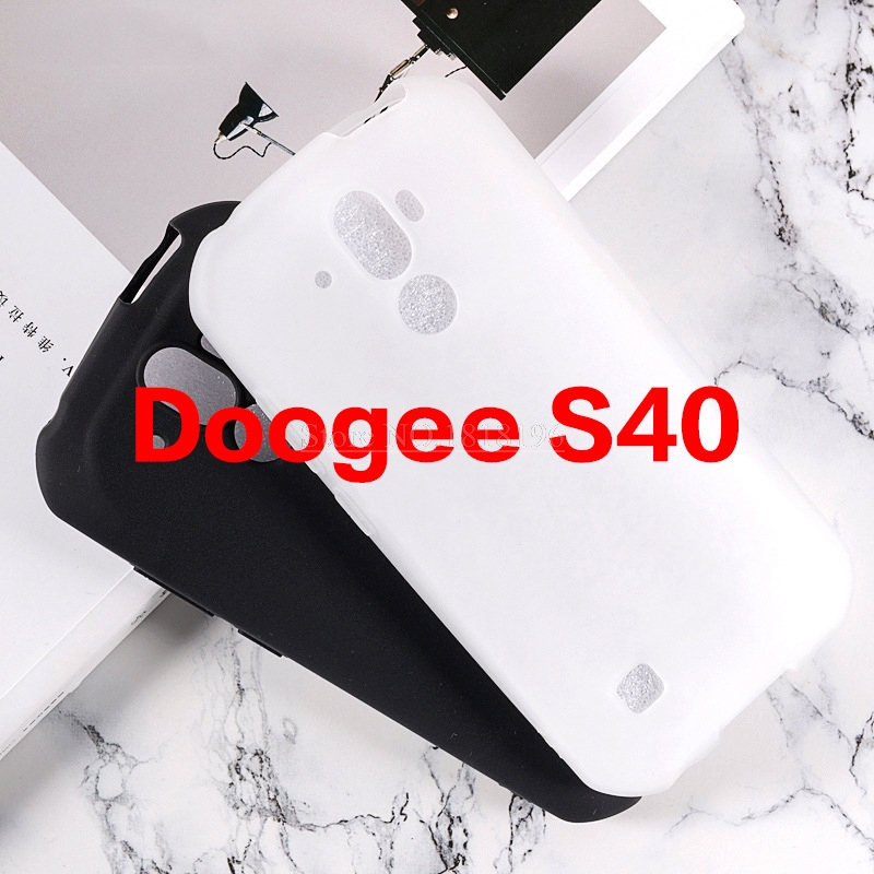 100% Original Protective Phone Shell Coque For Doogee S40 5.5 IP68 Back Cover Gel Pudding Silicone Case For Doogee S40 2019 Case(China)