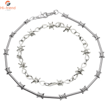 Popular INS thorns bamboo necklace personality creative alloy pants chain waist chain necklace accessories gift  jewelry цены