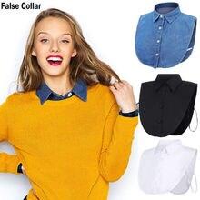 Blouse Collar False-Lapel Accessories Detachable Shirt-Style Neck-Decor Fake Half Men