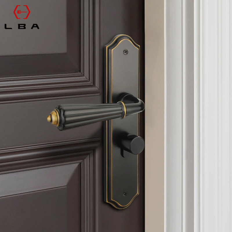 Lba Minimalis Modern Silent Indoor Kunci Pintu Hitam Paduan Seng Kamar Tidur Interior Handle Pintu Kunci Silinder Keamanan Rumah Kunci Kunci Pintu Aliexpress