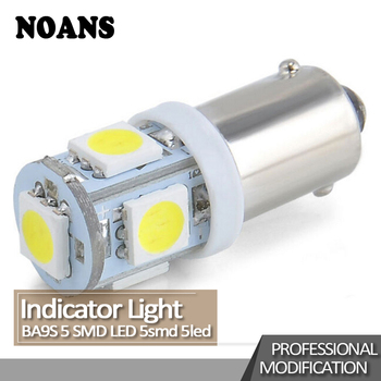 NOANS 1pcs Universal Car LED BA9S 5050 5SMD Interior Reading Light For BMW E36 F30 F10 E30 M X5 Ssangyong Volvo XC90 V70 XC60 image