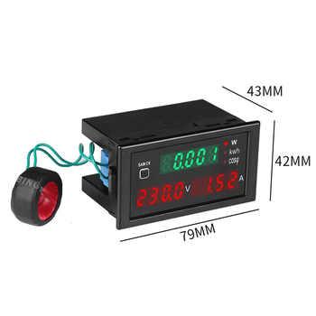 AC 80.0-300.0V/ 200.0-450.0V Alternating Current Display Meter Curren-t Frequency Electrical Energy Gauge Voltmeter Power Meter