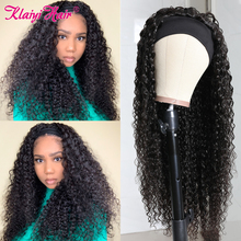 Scarf Wig Human Hair Clip-In Jerry Curly Klaiyi Glueless Natural-Black Women Brazilian