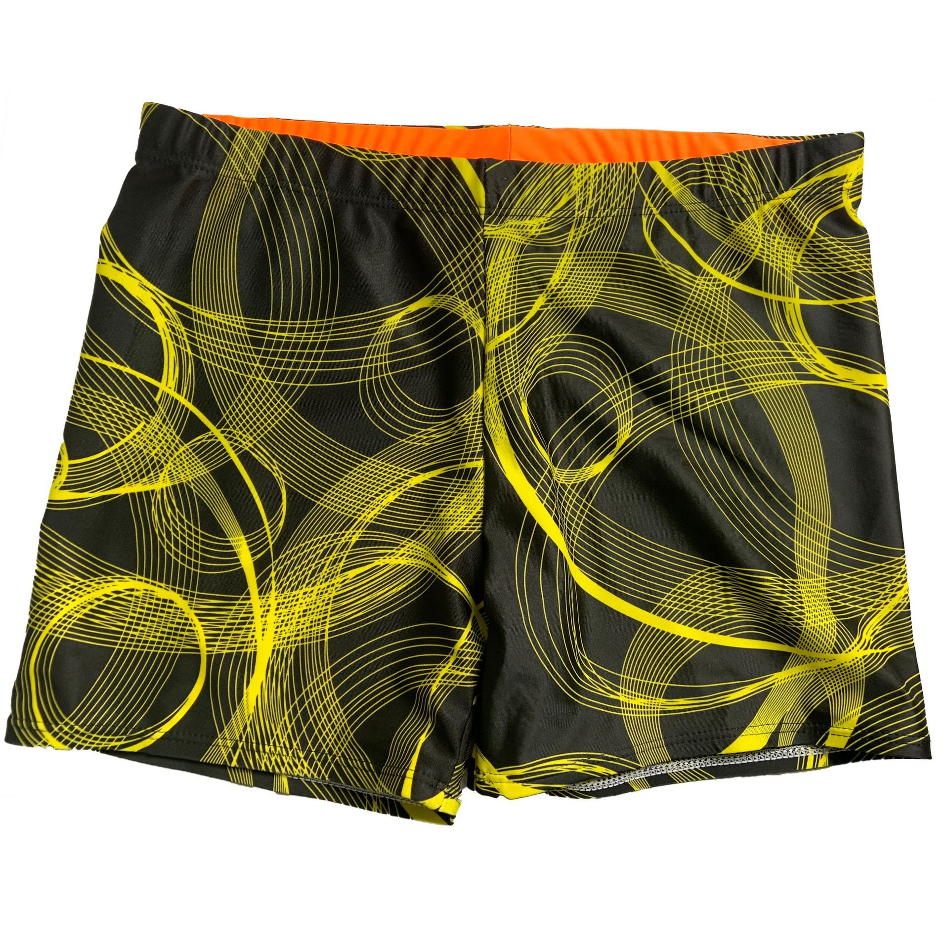 Full Printed Lines MEN'S Swimming Trunks Zhuo Lang 5 Men's Swimming Trunks Dacron Swimming Trunks