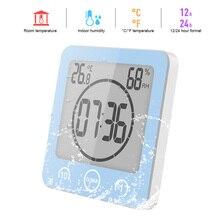 Timer Hanging-Clocks Lcd-Screen Wash-Shower Bathroom Digital Waterproof Temperature-Humidity-Countdown-Time-Function