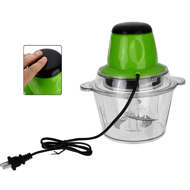 2L Electric Chopper Powerful Meat Grinder Stainless Steel Multifunctional Meat Kitchen Blender Food Processor|Meat Grinders| |  - title=