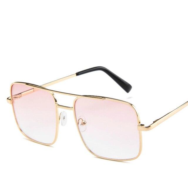 Montura de gafas cuadradas Vintage para hombres, monturas ópticas metálicas de aleación de gran tamaño, gafas graduadas para miopía, montura de lentes transparentes