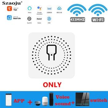 Szaoju 16A 10A Tuya WiFi inteligentne życie przełącznik światła obsługuje 2 Way MINI Diy moduł sterowania APP przekaźnik głosowy Google Home Alexa